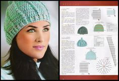 Gorro verde con pompon Knitted Hats, Crochet Hats, Headbands, Crochet Patterns, Beanie, Knitting, Funny, Scarfs, Stitching