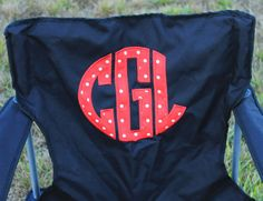 Monogrammed Tailgating Chair-