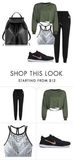 """Untitled #2648"" by sv-c ❤ liked on Polyvore featuring Markus Lupfer, WithChic, prAna, NIKE and Le Parmentier"