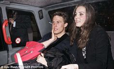 First love: Willem Marx pictured with Kate sometime in 2008