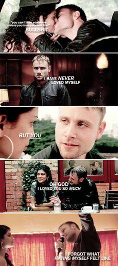 """""""You can't love someone unless you love yourself first."""" Bullshit. I have never loved myself but you, oh God. I loved you so much, I forgot what hating myself was like. #sense8"""