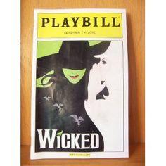 PLAYBILL - Wicked, Gershwin Theatre, NYC