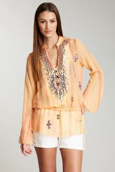 Hale Bob  Tunic With Mirror Detail  $85.00