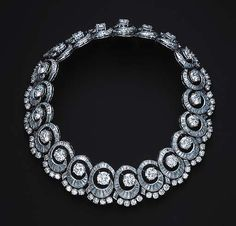 Diamond necklace from Christie's