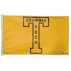 Georgia Tech Yellow Jackets Flag - 3X5 Vintage Style Grommet Banner Flag