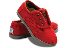 Red wool shoes! Easy to spot running around and warm and comfy. What else do you need?