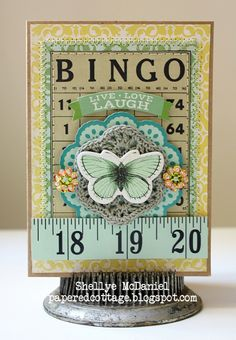 The Papered Cottage... something to do with vintage bingo cards