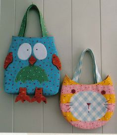 Crafts bags: bird and cat summer bags