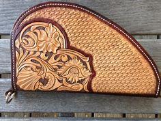 Hand Tooled Northwestern Style Leather Pistol Case by TonisLeatherShop on Etsy
