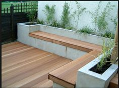 Bench on a raised bed