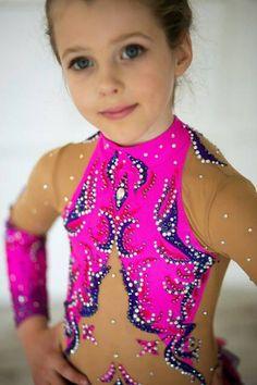 Wettbewerb rhythmische Gymnastik Leotard ice Skatet
