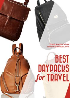 What's your favorite day bag? Find out my top picks for trips to beaches, cities, and adventure travel. Will these be the best day packs for your next trip? https://www.travelfashiongirl.com/best-day-packs/ via @travlfashngirl