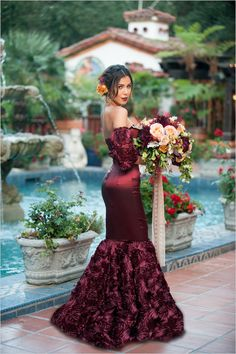 Spandish Wine Red Burgundy Mermaid Wedding Dresses Off the Shoulder Rose Lace Bridal Gown Prom Party Gowns sold by MissZhu Bridal. Shop more products from MissZhu Bridal on Storenvy, the home of independent small businesses all over the world. Colored Wedding Dress, Red Wedding Dresses, Wedding Gowns, Wedding 2017, Spanish Wedding Dresses, Fall Wedding, Latin Wedding, Geek Wedding, Magical Wedding