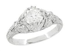 Antique Filigree Engagement Ring