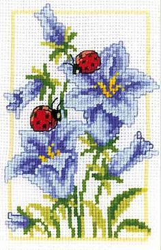 Bell Flowers Cross Stitch Kit By Vervaco