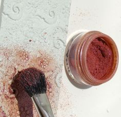Textured Air Dry Clay Napkin Ring: Dust the Surface with Pigment Powder