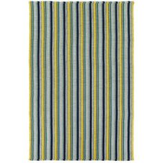 blue and green stripe rug