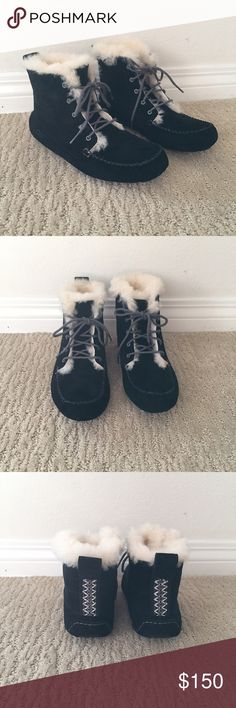 Lace up Ugg Boots Lace up Ugg boots. Cozy & cute! Perfect for these cold weather days. UGG Shoes Winter & Rain Boots