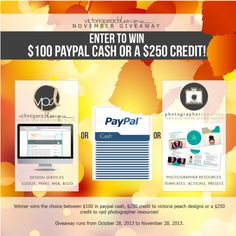 Enter to win $100 Paypal Cash from Victoria Peach Designs!