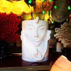 """Vaso """"saraceno"""" in maiolica da Salamastra. -- Vase in terra cotta with majolica glaze by Salamastra"""