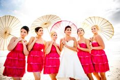 Parasols are the new bridesmaid bouquets.