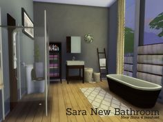 The Sims Resource: Sara New Bathroom by Angela • Sims 4 Downloads