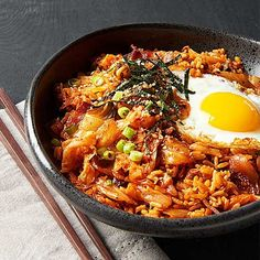 Kimchi Fried Rice Easy Dinner Recipes, Easy Meals, Weeknight Meals, Delicious Recipes, Dinner Ideas, Kimchi Fried Rice, Fermented Cabbage, Asian Grocery, Asian Recipes
