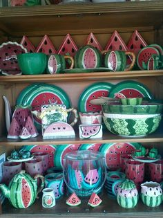 Ya wouldn't think I love watermelons, would ya? This is just part of the collection!