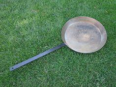 Antique Frying Pan Cold Handle Skillet Cowboy Steel