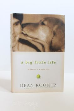 A Big Little Life - Dean Koontz. One of those books that  when I was 3/4 finished, I started to parse out my reading time in tiny amounts, because I didn't want it to end. Mr. Koontz has so many insightful words about faith, grace, wonder and humility. And he put into words how  a relationship with a special dog can change lives.