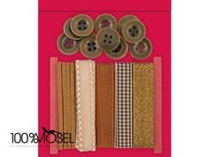 Tolles Bänder und Knöpfe-Set von Papermania Create Christmas: Button and Ribbon Pack - Bronze  Das Set enthält 5 verschiedene Bänder in 2,5-13 mm Breite und 12 Knöpfe. Die Bänder sind weihnachtlich...