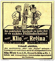 Original-Werbung/Inserat/ Anzeige 1912 -  KLIO & REGINA FÜLLFEDERHALTER  - ca. 90 x 100  mm