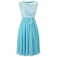 Buy Precis Petite Lace Top Soft Prom Dress, Blue/Multi Online at johnlewis.com