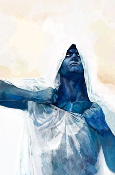 Moon Knight by Alex Maleev http://www.pinterest.com/mhendriks404/comic-art-1-creatures-characters/