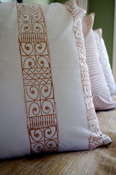African Border Hand Block Printed Throw Pillow. $36.00, via Etsy.