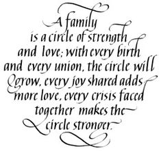 A Family is a Circle of Strength