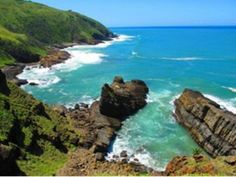 Port St Johns - Port St Johns - Amapondo Backpackers - Amapondo Backpackers, nestled in a tropical rainforest on a hill, is situated in Port St Johns in the . Africa Destinations, Walking In Nature, Marine Life, How To Do Yoga, Beautiful World, Backpacking, South Africa, Places To Go, Coast