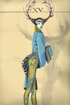 GIANNI VERSACE Illustration by MANUELA BRAMBATTI