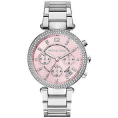 Pink and Silver Michael Kors Watch Perfect condition, got it as a present. Only worn a few times. Comes with box and extra links. Time is set to eastern time. Authentic. Michael Kors Accessories Watches