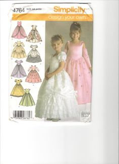 Pattern Girls' special occasion dress. 8 by VelveteenGarden, $10.00