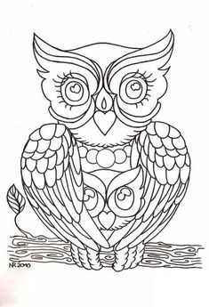 Drawing Owl Print Coloring Children And Adults