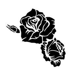Трафарет Роза и розочка