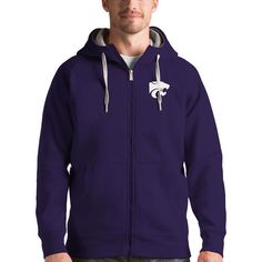 Kansas State Wildcats Antigua Victory Full-Zip Hoodie - Purple