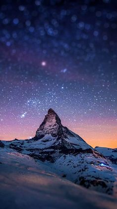 Mountain Peak Stars Tilt Shift iPhone 6 Plus HD Wallpaper