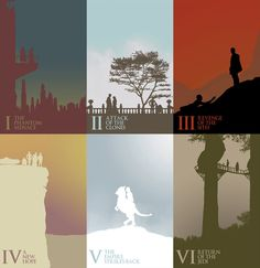 Star Wars Silhouette Poster Series
