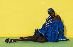 Fashion editorial for Alpha Fashion Magazine  Bright colourful beauty, fashion, style and makeup with African model, Awa