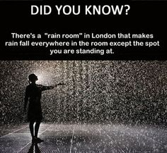 The London Rain Room rain amazing london interesting fact facts did you know fun facts