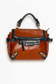Cambridge Handbag..yep, i need this..cognac leather with navy blue accents,yep,yep