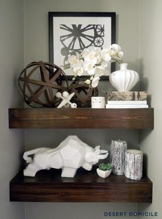 I want these shelves in my bathroom.  eighteen25