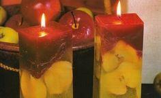 Cómo hacer velas con manzanas